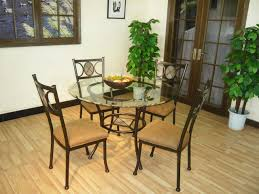 wrought iron dining room sets furniture stunning small dining room decoration using round glass