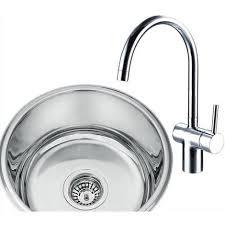 Chrome Kitchen Sink Undermount Stainless Steel Kitchen Sink Side Chrome Taps