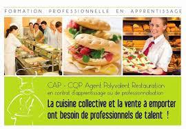 apprentissage en cuisine restauration polyvalent restauration en contrat d apprentissage ou de