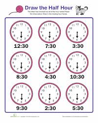 how to teach a child to tell time worksheets free worksheets