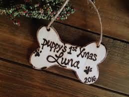 First Christmas Personalized Ornaments - puppy u0027s first christmas personalized ornament with name