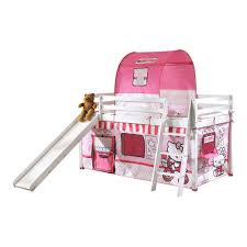 Hello Kitty Cabin Bed With Slide  Tent Noa  Nani - Hello kitty bunk beds