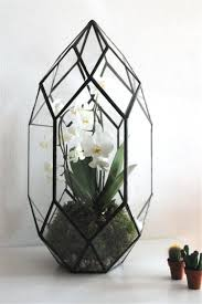 handmade glass terrarium modern planter for indoor gardening