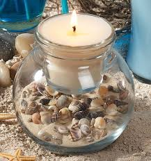 Seashell Centerpieces For Weddings by Best 25 Seashell Candles Ideas On Pinterest Shell Candles
