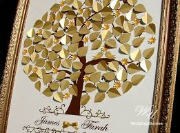 goldene hochzeit ideen goldene hochzeit baum guest book hochzeitsideen liebe