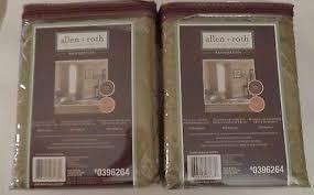 Allen Roth Curtains Pair Allen Roth Bannerton Panels Drapes Curtains Sage Green