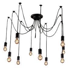 Edison Pendant Light Edison Pendant Light Chandelier 10 Pendants Bulbs Included