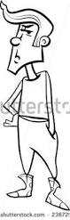 black white cartoon illustration angry offended stock illustration