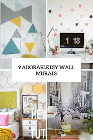 9 adorable and easy to make diy wall murals shelterness 9 adorable diy wall murals cover