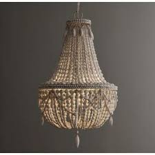 bead chandelier seville anselme weathered wood bead chandelier italian concept