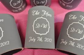 koozies for weddings wedding koozies personalized koozies the embroidery shop embshop