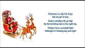 christmas is a day full of joy poem christmas poem for kids