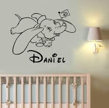 wall decals stickers home decor home furniture diy custom name dumbo wall decal disney vinyl sticker cartoon art nursery decor dum1
