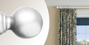White Wood Curtain Rod 3 Day Blinds Has Decorative Hardware For Window Treatments
