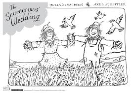 the scarecrows u0027 wedding colouring sheet scholastic kids u0027 club