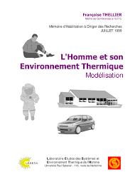 bureau ude thermique l homme et environnement thermique pdf available