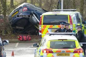 tesco car park crash three people injured including toddler as