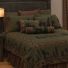 green moose bedspread collection cabin place