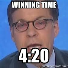 Bob Costas Meme - winning time 4 20 bob costas pink eye meme generator