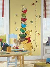 pooh growth chart wall stickers stickers for wall com pooh growth chart wall stickers