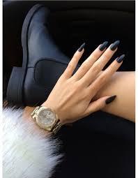 photo ongles gel la manucure noir mat http www larevuedekenza fr nails