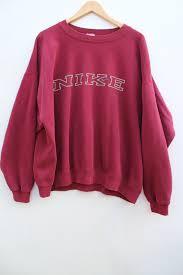 nike pullover sweater nike sweatshirt oversized xl faded maroon boxy baggy jumper