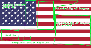 flags of hungary within flags of usa imgur