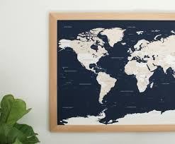 World Map With Pins by Push Pin Travel Map Navy Blue World Map Push Pin Map