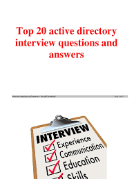 windows ad top20 questions and answer active directory job