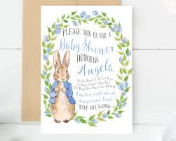 peter rabbit invitations baby shower invitation baby shower