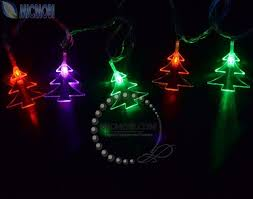 christmas tree shaped lights high quality 220v 5m 30 led christmas tree shaped rgb string lights