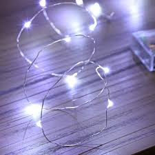 Fairy Light Wall by Battery Fairy Lights On Silver Wire 20 White Leds