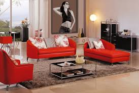 enchanting living room paint ideas with red sofa and photo gallery