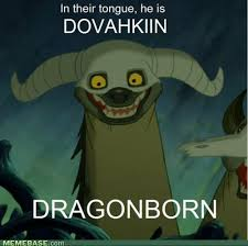 Dragonborn Meme - and the song they play with this just has an extra aaajewenyaaa