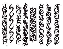 tribal bracelet designs lower leg tribal maori style band