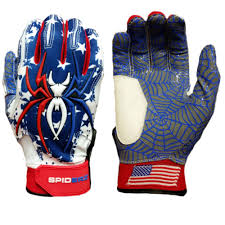 Flag Football Gloves Spiderz Hybrid Batting Gloves Usa Flag U2013 Spiderz Sports