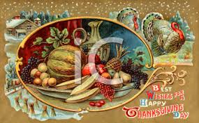 vintage thanksgiving postcard clip royalty free clipart