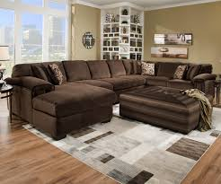 Livingroom Sectionals Corinthian 6500 Sect Six Person Sectional Sofa For Contemporary