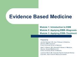 evidence based medicine intro