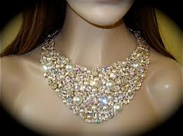 chunky crystal bib necklace images Wedding bib necklace bridal swarovski crystal necklace registaz jpg