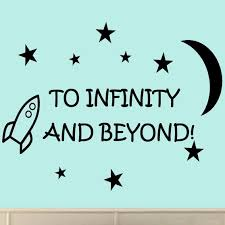 amazon com to infinity and beyond vinyl wall decals quotes kids