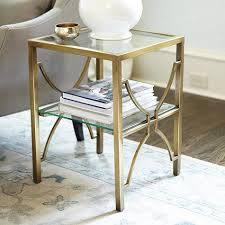 Brass Side Table Glass Top Brass Side Table