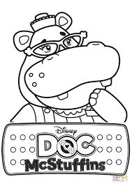 hallie hippo doc mcstuffins coloring free