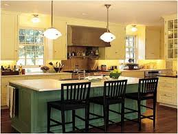 Kitchen Island Table With Chairs Kitchen Small Cone Pendant Lamps Above Gray Kitchen Island Table
