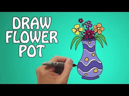 learn how to draw a flower pot in easy steps basic drawing
