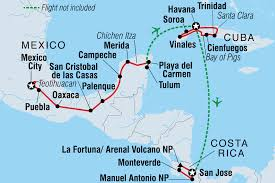 Map Of Puebla Mexico by Essence Of Central America Cuba Tours Intrepid Travel Au