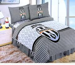Duvet Club Fast Shipping New 100 Cotton Juventus Club Duvet Cover Sets Fans