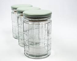 glass canister set etsy