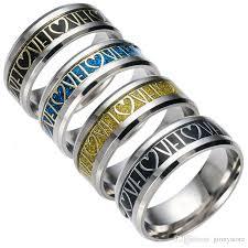 stainless steel rings for men 2018 stainless steel rings heart mens rings titanium steel jewelry