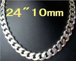 big necklace silver images Men jewelry wholesale fashion 925 silver beautiful new big chain jpg